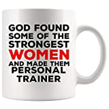 God Made Women Personal Trainer Mug Coach Athletic Instructor Coffee...