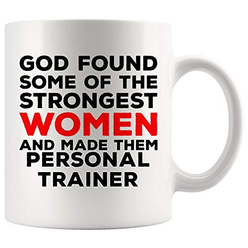 God Made Women Personal Trainer Mug Coach Athletic Instructor Coffee Cup - Fitness trainers Coach Teacher Mentor Thoughtful Gift for Men Women Faith Jesus