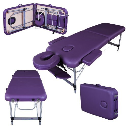 Massage Imperial® - tragbare Massageliege Knightsbridge - Aluminium - 10 kg - 7 cm Schaumstoff – Violett