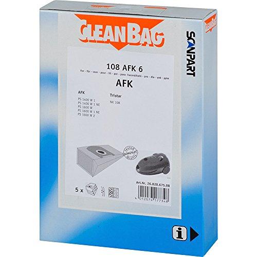 1 Lot de 5 feuilles 108AFK6, sacs, filtre de sortie du fabricant scanpart cleanBag