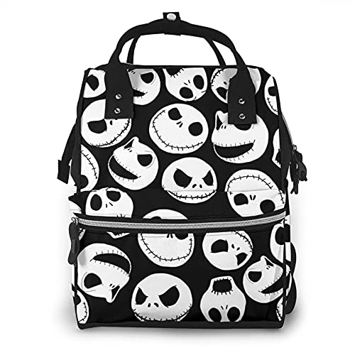 Yuanmeiju Diaper Bag Backpack Jack and Sally The Nightmare Before Christmas Multifunction Waterproof Travel Backpack Maternity for Baby Boy Nappy Changing Bags