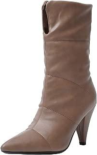 JOJONUNU Women Classic Chunky Heels Mid Calf Boots