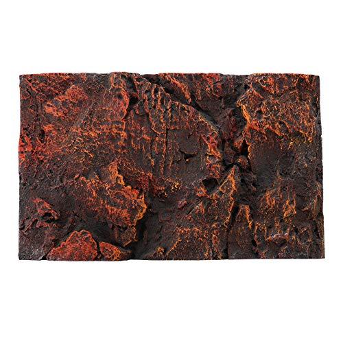 Balacoo Fondo de Acuario Rocoso 3D Placa de Fondo de Tanque de Tortuga Decorativa para Decoraciones de Caja de Reptiles de Pecera
