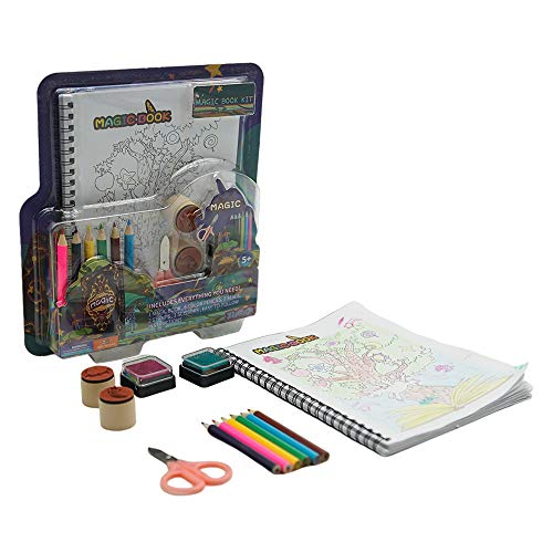 ZUBAT Magic Coloring Book Kit, Fun Kid Workbook Game for Coloring Drawing, Cultivate Creativity Imaginatity, Age for 5+