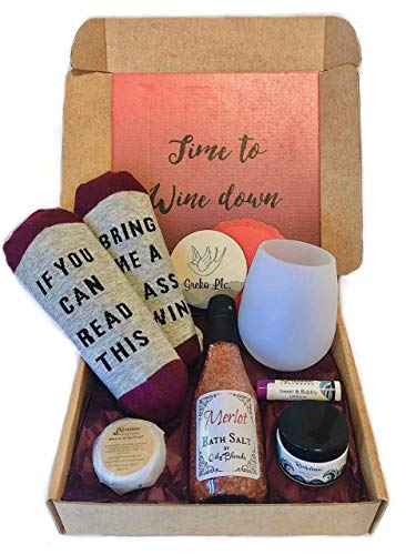 Time To Wine Down Gift Box - Pampering Gift Set For Women - Regular
