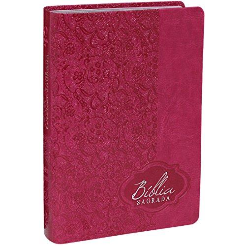 Bíblia Sagrada Letra Gigante - Capa Couro sintético Pink: Almeida Revista e Atualizada (ARA)
