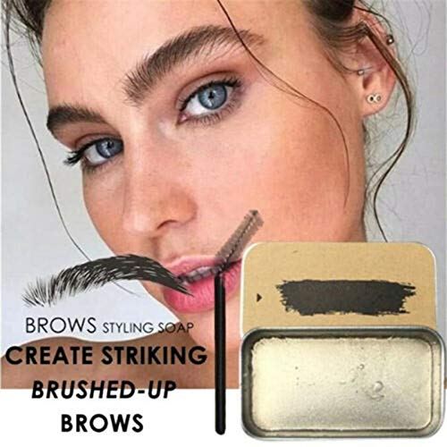 Gmorosa 3D Brows Makeup Gel Soap Long Lasting Eyebrow Set Thick Portable Cosmetics for Women Eyebrow Tint Brows Styling Soap Smudge Create for Natural Brows Style Design