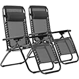 Patio Chairs Set of 2 Zero Gravity Chair Folding Chairs Anti Gravity Chair Outdoor Chairs Reclining Deck Chairs Outdoor Folding Chairs Lounge Chair Foldable Yard