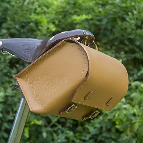 Check Out This London Craftwork Super Large Bicycle Bag Genuine Leather Saddle/Handlebar/Frame Bag T...