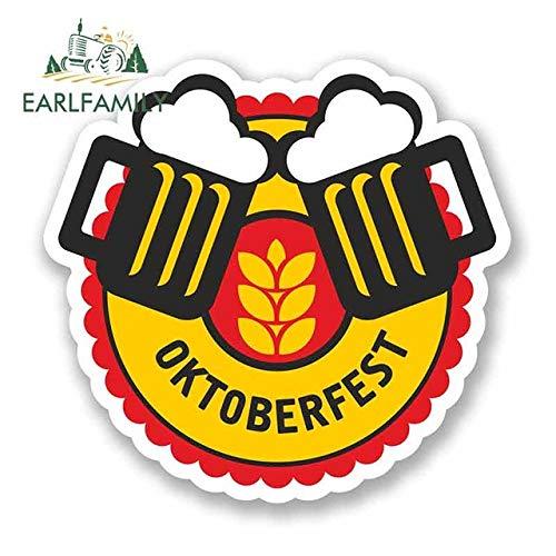 N/X YDBDB 13cm x 13cm Voor Oktoberfest Bier Duitse Auto Bumper Window Stickers Vinyl Auto Wikkel DIY Motorfiets Graffiti Sticker
