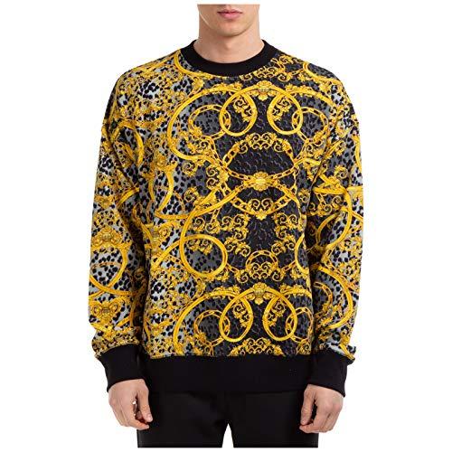 Versace Jeans Couture Herren Sweatshirt Leo Chain Nero M