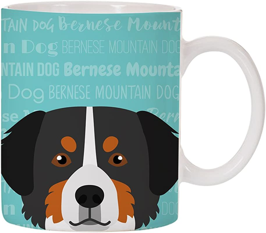 Adorable Dog Breed Specific 11oz Ceramic Coffee Mug Bernese Mountain Dog