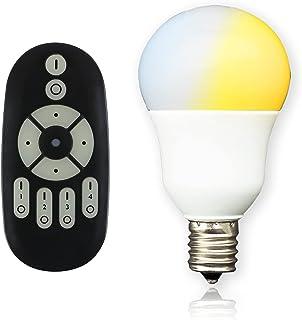 共同照明 LED電球 E17 40W形相当 調光 調色 GT-B-5WT2-Y 電球色 昼白色 昼光色 led 5w 無線式リモコン操作 遠隔操作 led照明 リモコン付き