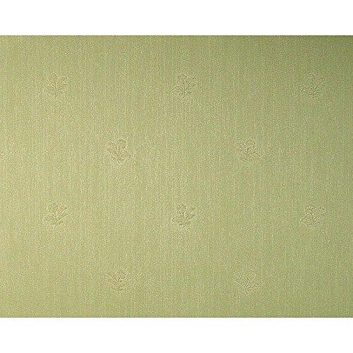 Schwere Satintapete 70 cm breit grün Blumenmuster Ton in Ton