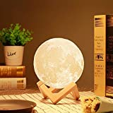 3D Printing Technology The nightstand lamps is delicately crafted with 3D printing technology, restores the real appearance of the moon vividly. Unique moon shape makes the room full of fun, cute gifts for childrens or baby. The moon has been a divin...