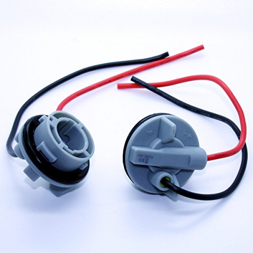 LED-Mafia 2X Lampenfassung BA15S 1156 Fassungen Lampe Kabel Stecker Sockel Fassung