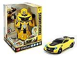 Dickie Toys 203113025 Transformers Robot Fighter Bumblebee 203113025-Transformers Actionfigur, verwandlungsfähiges Fahrzeug, 24 cm, ab 3 Jahren, gelb/schwarz