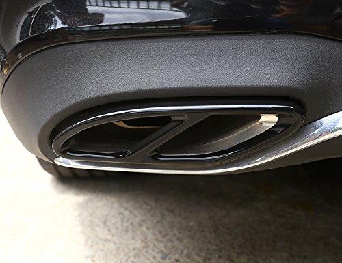 Preisvergleich Produktbild Rohr Schwanz Throat Auspuff schwarz hochglanz Ausgänge Schwanz Rahmen Rand Cover