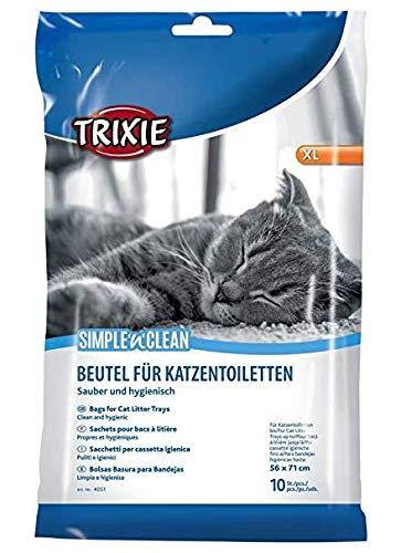 Trixie - bandeja de basura bolsas para caja de gatos, tamaño XL (hasta 56x 71ccm) 10paquetes de 6 xunidades ( 6Paquetes–60unidades en total)–Bulk Buy