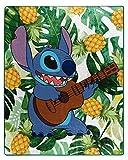 Disney Lilo & Stitch Feeling The Tunes Silk Touch Throw Blanket 50' X 60' (127cm x 152cm)