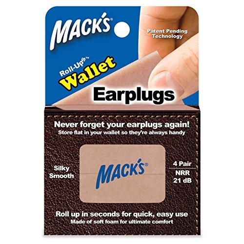 Macks Roll-ups Wallet Earplugs, 4-Count (Pack of 3)