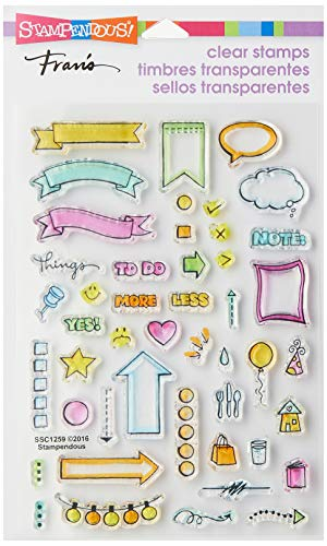 Stampendous Clear Stamp Set, Journal Bullets