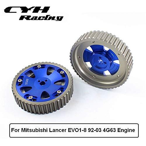 2Pcs Adjustable Cam Gear Pulley Kit For Mitsubishi Lancer EVO1-8 4G63 Engine 92-03