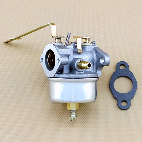 Carburetor for Tecumseh H50-65077F H50-65077G 631068A 631068B Model Lawn Mower Engine with Gasket /& Fuel Line /& Fuel Filter