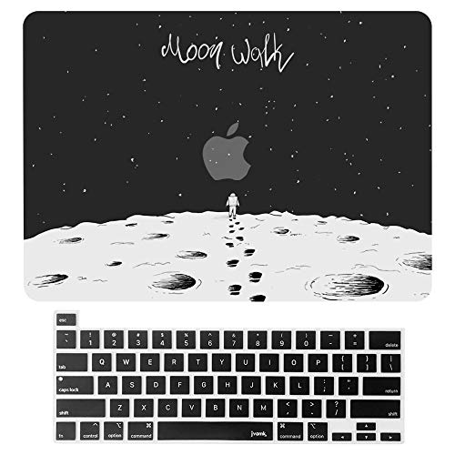 MacBook Pro13InchCase 2020 Release A2338 A2251 A2289 Hard Case Shell Cover & Keyboard Cover with Touch Bar and Touch ID for Apple 13inch MacBookProCase (Moon Walk)