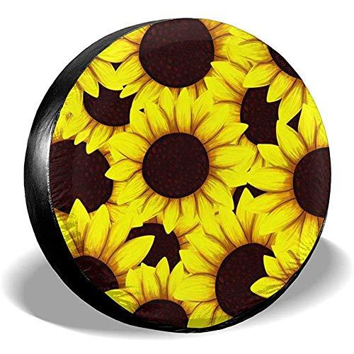 XZfly vervangende bandenafdekking zonnebloemen gestapeld universele wieldoppen voor je-ep Trailer RV SUV voor diameter