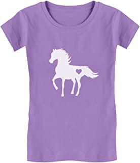 Gift for Horse Lover Love Horses Girls' Fitted Kids T-Shirt