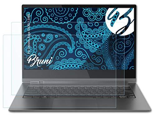 Bruni Schutzfolie kompatibel mit Lenovo Yoga C930-13IKB Folie, glasklare Bildschirmschutzfolie (2X)