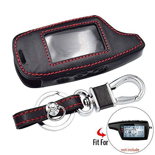HAKFV Auto sleutelhanger Lederen sleutelhoesje Voor Pandora DXL 3000 3100 3170 3300 3210 3500 3700 Twee Weg Auto Alarmsysteem LCD Afstandsbediening Fob Cover