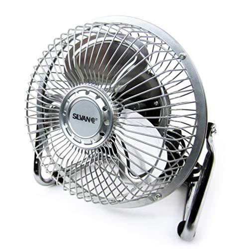 SILVANO Ventilador pequeño 15.24cm.Modelo:SL-VENT-6M Plata,
