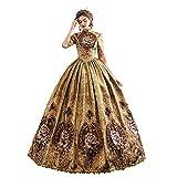 KEMAO Vestido rococó victoriano para mujer, vestido de doncella inspiración, vestido medieval, vestido renacentista del siglo XVIII