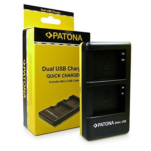 PATONA Cargador Doble para EN-EL23 Bateria Compatible con Nikon Coolpix P600 P610 P900 S810c