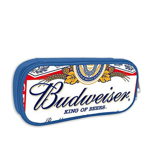 Budweiser bier logo grote capaciteit potlood case bureau potlood student briefpapier doos opbergtas Eén maat Blauw