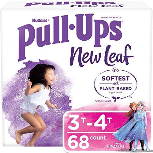 Pull-Ups New Leaf Girls' Potty Training Pants Training Underwear, 3T-4T, 68 Ct