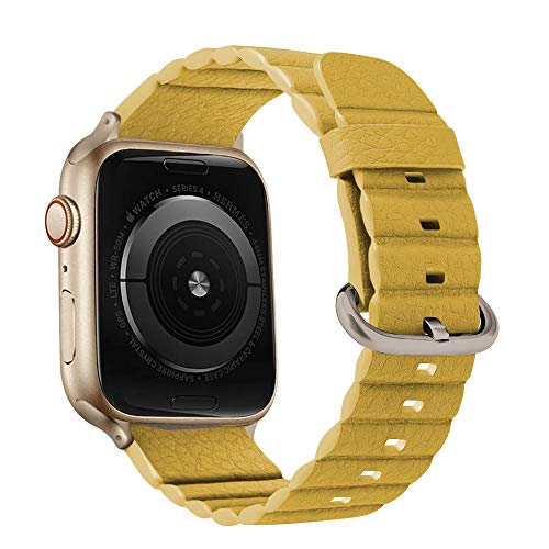 O RLY Piel Correa Compatible con Apple Watch Band 44mm 42mm para Series 4 3 2 1 Suave y Blando