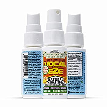 Vocal Eze Throat Spray | Relieve Sore Hoarse Fatigue Dryness of Throat | Herbal Immune Support All Natural Ingredients  1