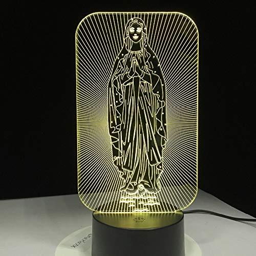 Luz de Noche Creativa lámpara de Noche para Dormitorio Infantil Madre de la Virgen María