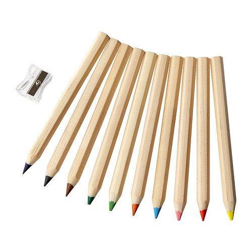 IKEA MÅLA farbigen Bleistift 10Stück, verschiedene Farben
