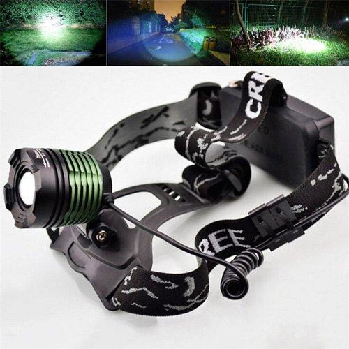 Flashlighx Nuevo 2000 Lumen XM-L T6 LED Zoomable Cabeza de la Linterna Antorcha Lámpara Linterna 3 Modos de Pesca Que Sube la Lámpara