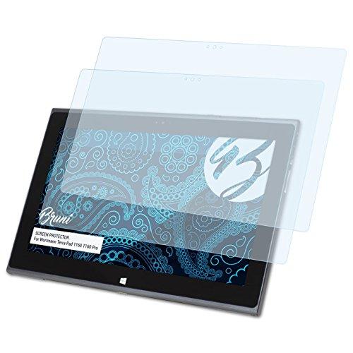 Bruni Schutzfolie kompatibel mit Wortmann Terra Pad 1160 1160 Pro Folie, glasklare Bildschirmschutzfolie (2X)