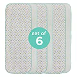 Neat Solutions 6 Pack Print/Solid Knit Terry Burpcloth Set, Colors May Vary, Boy