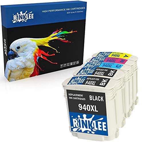RINKLEE 5 Compatibles 940XL 940 XL Alta Capacidad Cartuchos de Tinta Reemplazo para HP OfficeJet Pro 8000 8500 8500A A809a A809n A909a A909g A910a A910g