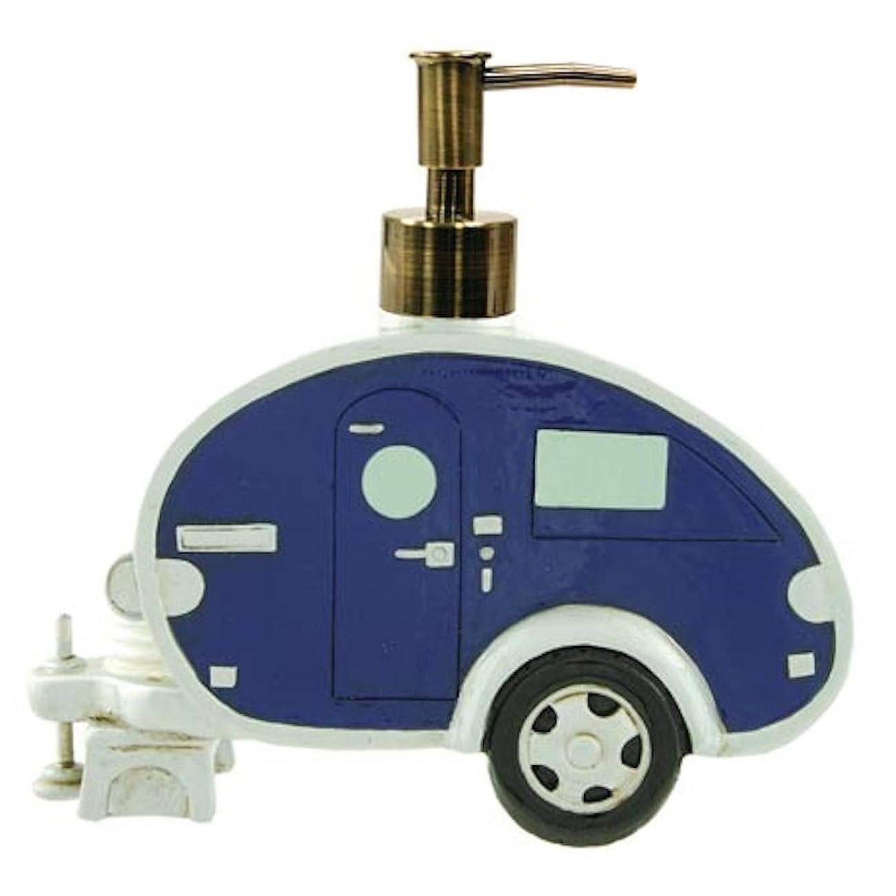 階下アブストラクト忌まわしいLiquid Soap Dispenser, Teardrop Camper Trailer RV, 25cm, (Random Colour)