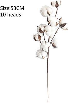 NSJGWSW 結婚式の装飾のための自然に乾燥させた綿の花の人工的な植物の花の枝