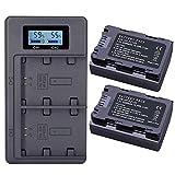 TANOU 2Pc 2280Mah Np-Fz100 Npfz100 NP Fz100 Batería + LCD Doble Cargador USB para Np-Fz100, BC-Qz1, A9, A7R III, A7 III, Ilce-9