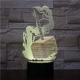 3D Sinfonía luz LED noche Marvel superhéroe Thor martillo figura USB Multicolor dormitorio lámpara de mesa 16 colores